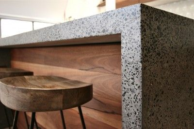 Fantastic polished concrete bench with natural timber, definitely worth investing in.