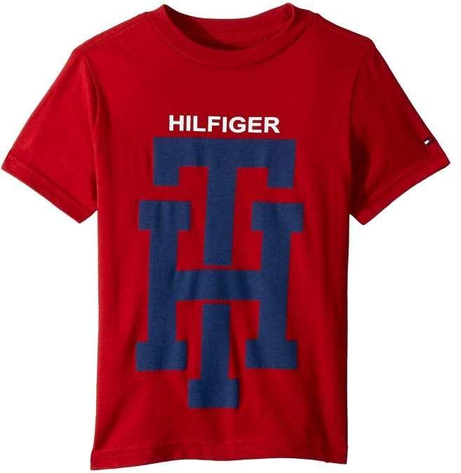 Tommy Hilfiger Corp Logo Hem Long Sleeve tee Camisa para Hombre