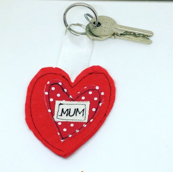 Mother's Day gift Key rings personalised key by AwesomecraftsbyDg
