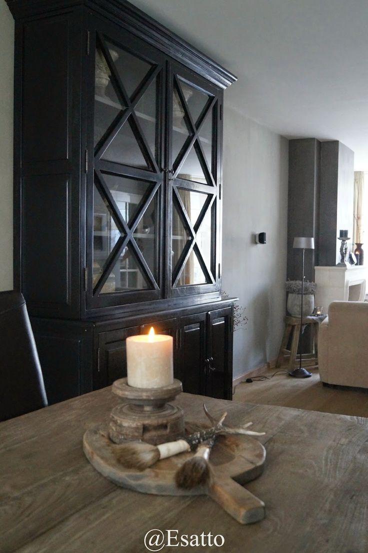 Paint kitchen cabinet black