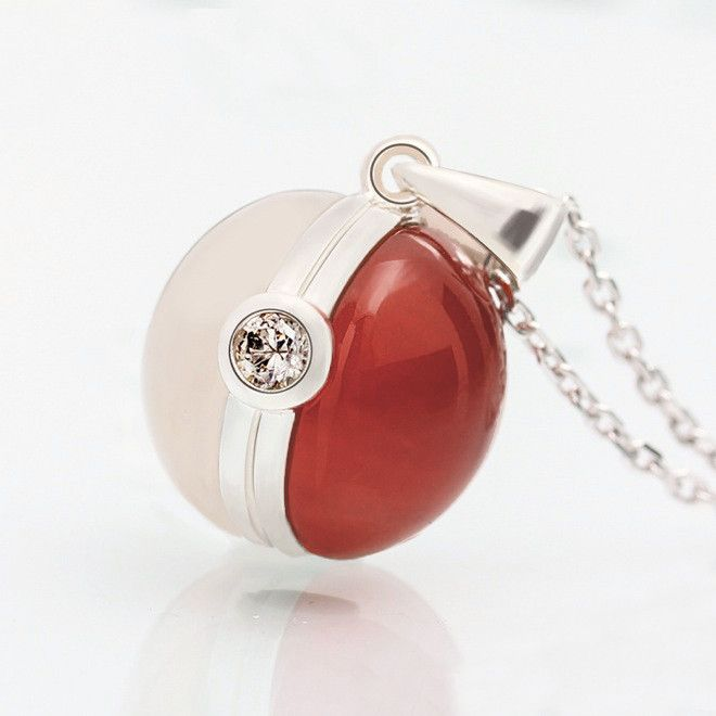 The Original Pokemon Poke Ball 925 Sterling Silver Necklace   One Cool Gift