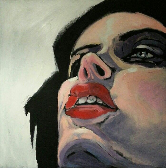 portrait, woman , acrylic on canvas 80/80