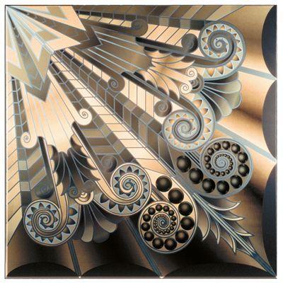 More super Art Deco; printed metal ceiling tile