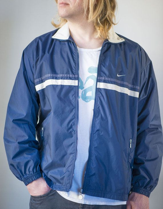 Nike Windbreaker for Men  Vintage 90s Nike Rain Jacket  by 4Rooms