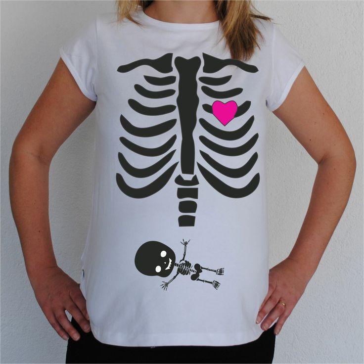 Camisetas para embarazadas divertidas - Esqueleto