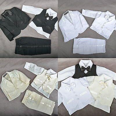 5 Teile★Baby★Taufe Anzug Kinder Kommunion Hochzeit Taufanzug Festanzug QX-62★NEU