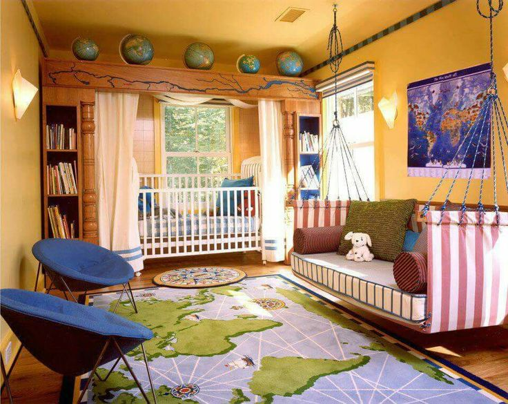 Etonnant Kids Bedroom Amazing Nursery Room In Orange With Beautiful World Map Carpet  And Cool Comfortable Hanging Chair Lovely Bedroom Design Ideas For Your  Lovely ...