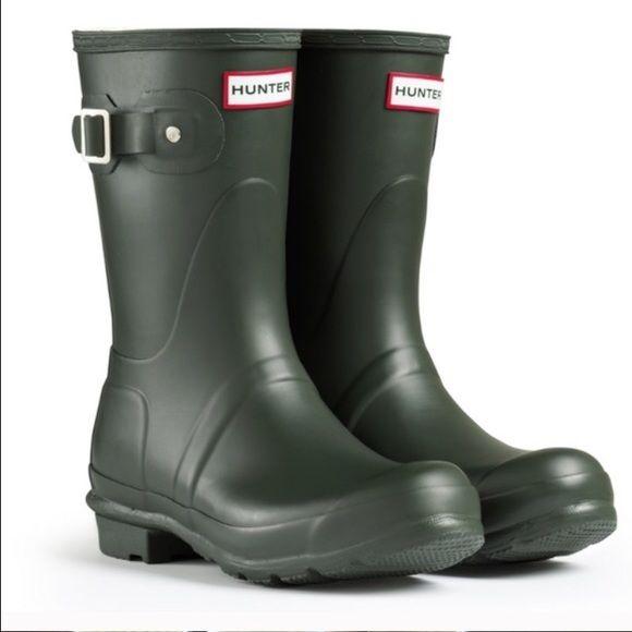 HUNTER authentic original short rain boots Sz 6 HUNTER authentic original short…