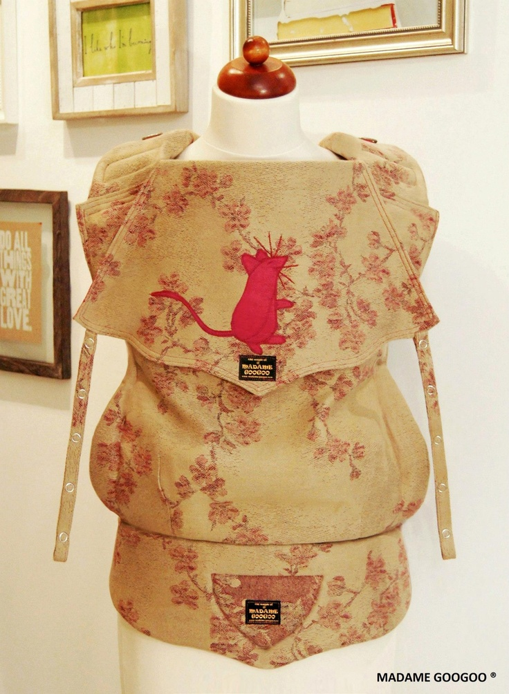 Madame Googoo full buckle wrap conversion. Made from a Didymos cherry  blossoms 2012.