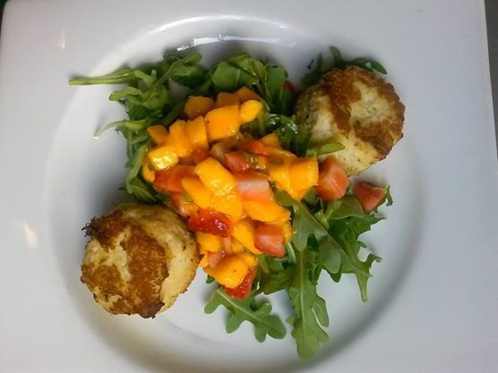 A look at our Savor Sarasota crab cakes, yum!