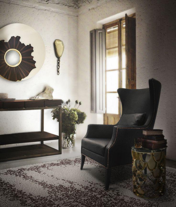 Wool rug | A sitting area with the  YUPIK hand-tufted dyed wool rug by Brabbu | Find more: https://www.brabbu.com/en/rugs/yupik-rug/ #contemporaryrugs #modernrugs #woolrug