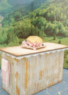 Cinderella Moments: Quick and Easy Dollhouse Kitchen Island/Bakery Counter Tutorial