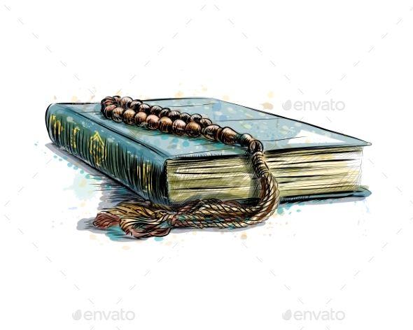 Holy Book Of The Koran How To Draw Hands Islamic Artwork Islamic Art