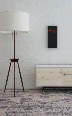 lamp, credenza, rug + clock from BDDW