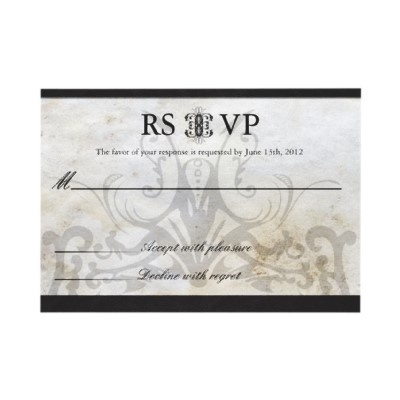 Celtic gaelic knot wedding rsvp card personalized announcement 1 80