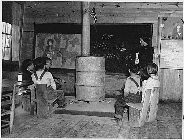 A School in Alabama  (Circa 1935) I believe that I would have been a much more absorbent learner sitting in 'real' chairs like those!