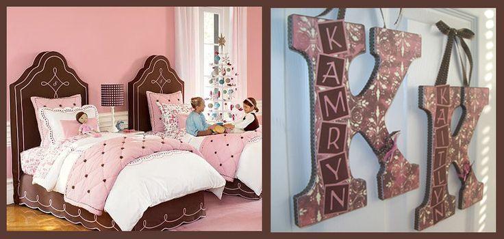 Girl's chocolate & pink room