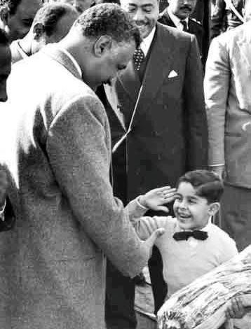 A rare photo where Egypt's past and present meet. President Gamal Abdel Nasser receives a salute and a bouquet from a young boy - a young Abdel Fattah El Sissi. El Sissi would later go on to be the general who deposed the Islamist fundamentalist president Muhammad Mursi after a mass protest by millions of Egyptians on June 30th 2013.