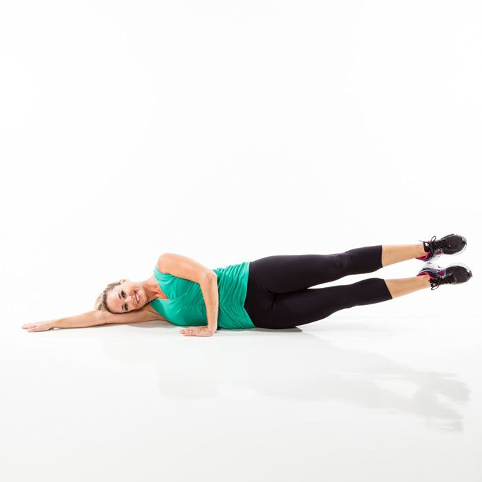This floor exercise will work your abs and lower body just for Floor exercises for abs