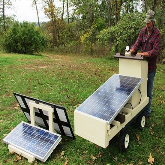 """""""Build a Solar Cart Instead of Removing Trees"""" -  From MOTHER EARTH NEWS magazine."""