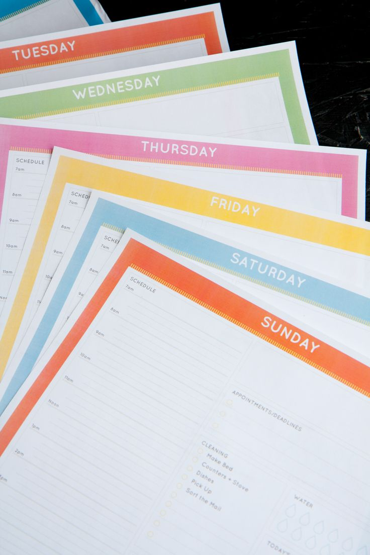 Free Daily Command Center Printablesthis site is great! take a look for some other great printables!