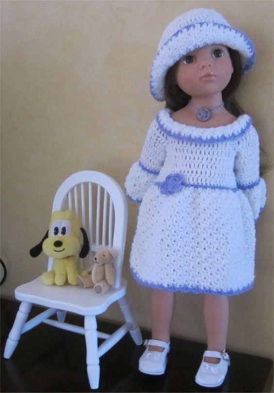 68- FICHE PATRON Tenue Lavande pour poupée Hannah de GOTZ : Jeux, jouets par atelier-crochet