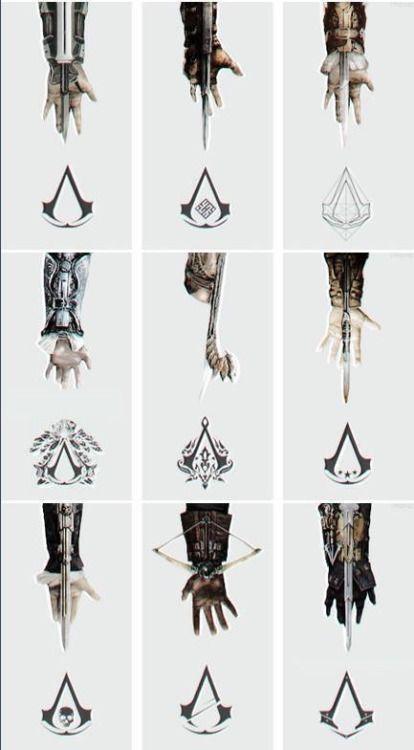 Vanessa pode escolher um dos simbolos dos assassinos pode por num lugar bem visivel gosto muito desse simbolo