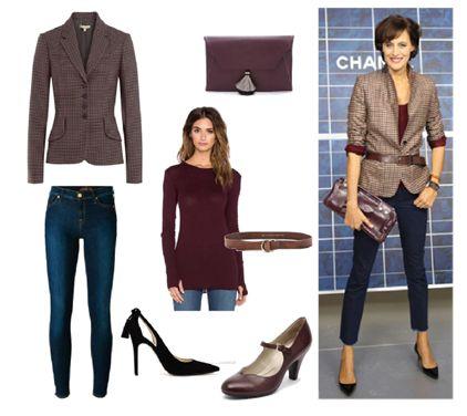 Work Style / Plaid blazer & blue jeans  by Josefinaelizalde on Set That -