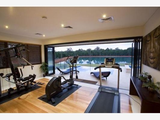 Home Gym with a View - Home and Garden Design Idea's