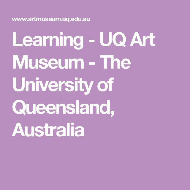 Learning - UQ Art Museum - The University of Queensland, Australia