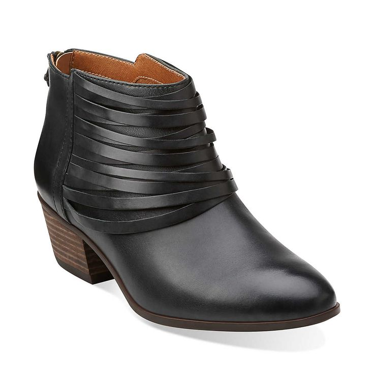 Spye Celeste in Black Leather - Womens Boots from Clarks
