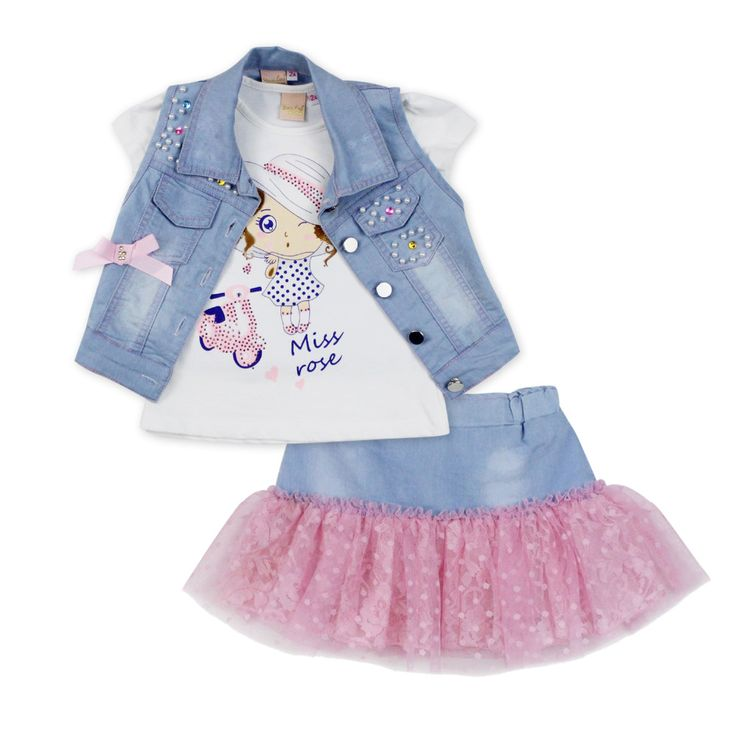 2016 fashion summer children clothing sets girl boutique outfits Denim short jackets cotton cartoon tops skirt suits clothes   UNUM CLICK - Online Shopping for Electronics, Fashion, Home & Garden, Toys & Sports, Health & Beauty and more