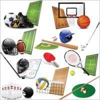 sports equipment 01 vector