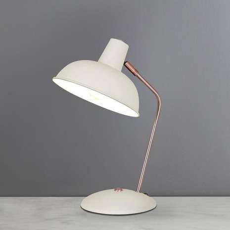 Leiden Cream Desk Lamp | Dunelm