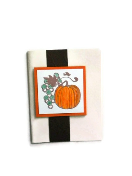 Pumpkin Autumn Card by lilaccottagecards on Etsy, $3.50Pumpkin Cards, Cards Autumn, Cards Blank, Greeting Cards, Cards Inspiration, Autumn Cards