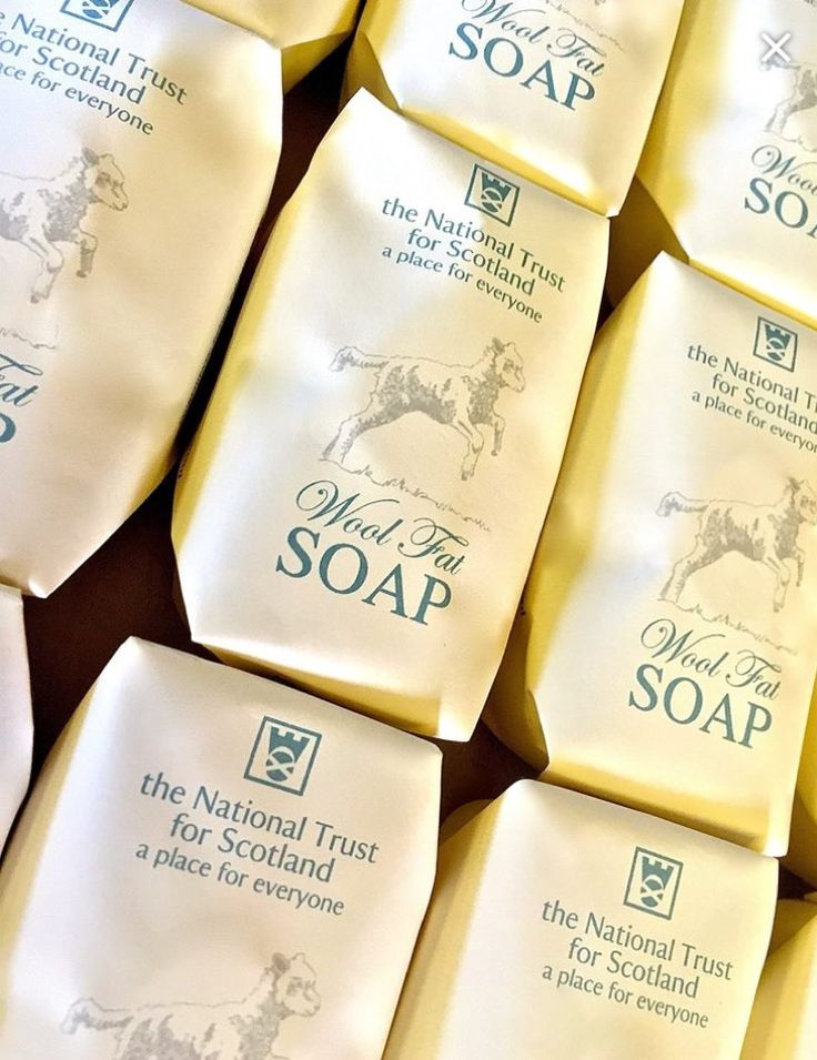 """We're so excited to welcome you in-store to discover the National Trust for Scotland's exclusive wool fat soap collection! Prepared to a traditional formula using the lanolin from wool fat, our wool fat soap is kind to skin, the environment and animals! Available at The Home Farm Gift Shop."""