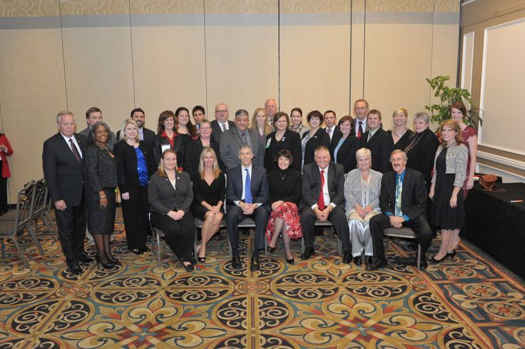 2014 Excellence Award finalists and winners pose with Sec. Arne Duncan.