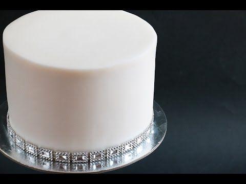 Sharp Edges On Fondant Cake Tutorial - YouTube