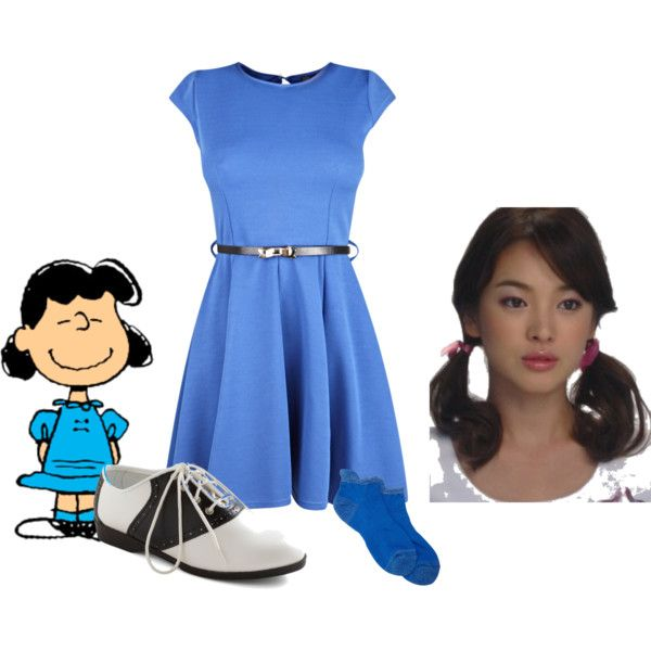 Lucy Van Pelt Costume by stephaniefb on Polyvore featuring Antipast, Pinup Couture, costume, charlie brown, lucy and halloween