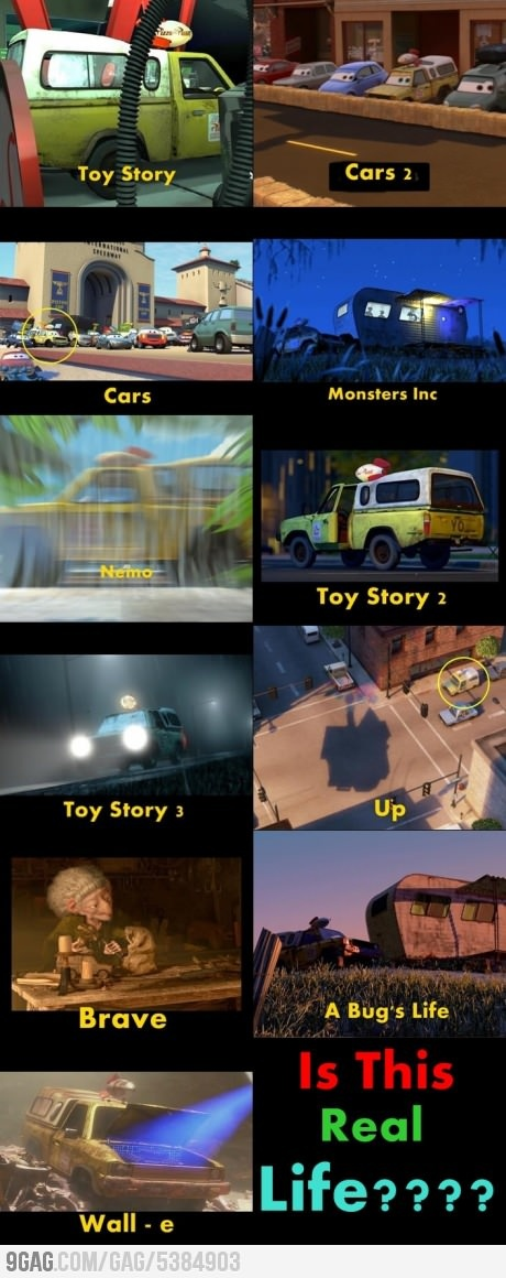 Well we all know that but did you notice the same trailer was used in A Bugs Life and Monsters Inc.
