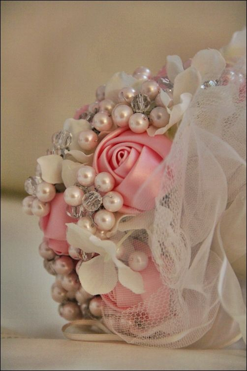 Wedding Bouquet, Custom satin Roses from me to you. $65.00, via Etsy ...