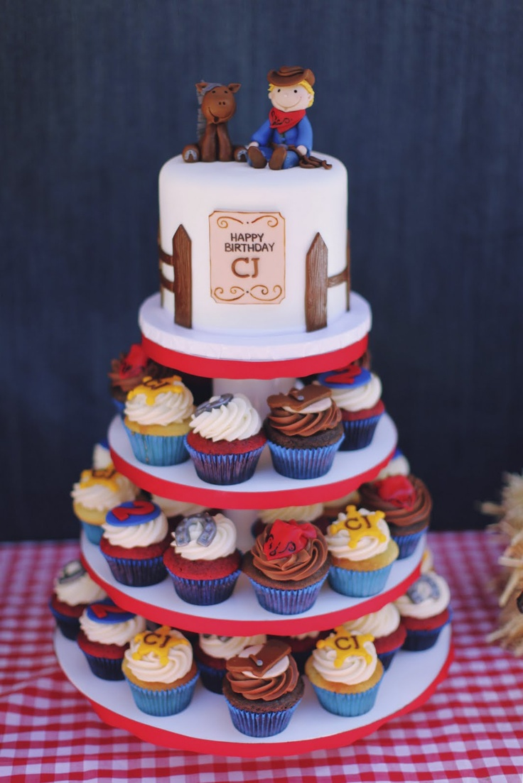 cowboy cake & cupcakes - For all your cake decorating supplies, please visit craftcompany.co.uk