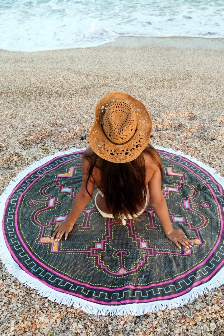 Softh and Thick Round beach towel collection by @MandalaLifeArt .   A must accessory for coming beaching season.