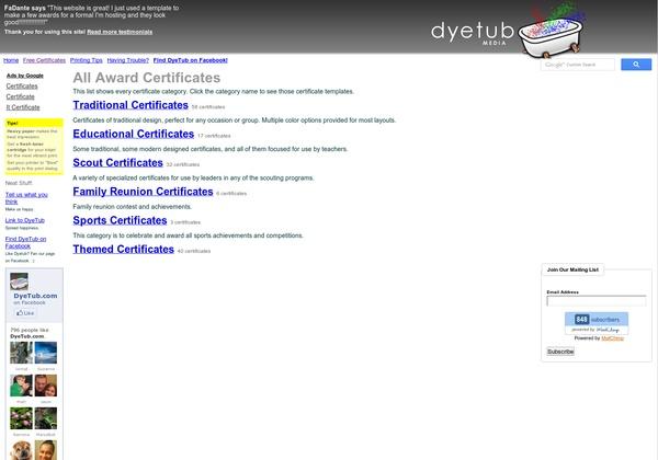 Todas las plantillas de certificados    http://dyetub.com/certificates/ via @url2pin