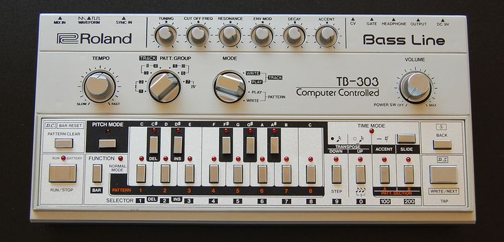 The Roland TB-303 bass line synthesizer... one classic acid (house) monster ;) ---> Found by www.gers.nl