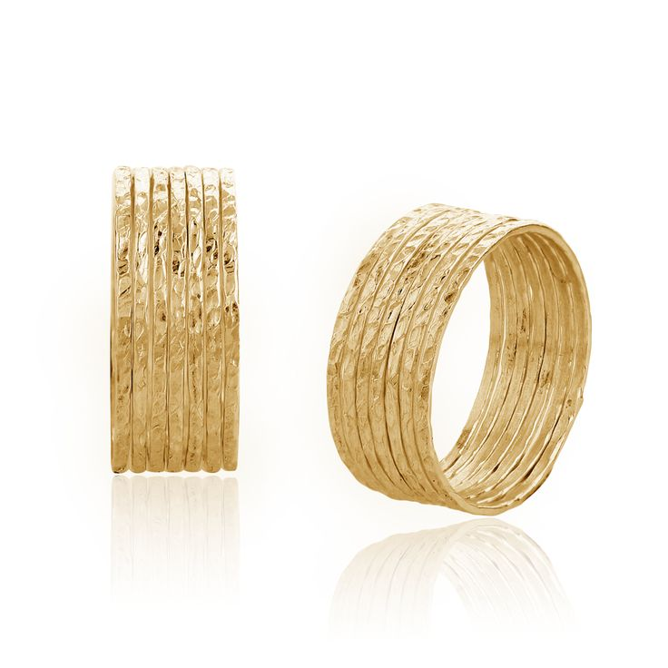 7 day stack rings, a wish for everyday of the week $110 goldplated sterlnig silver
