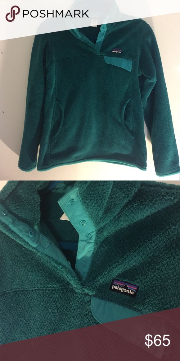 Teal Patagonia Synchilla EXCELLENT CONDITION Like new, teal quarter button up synchilla jacket. Kangaroo pockets and pocket on left breast. Worn less than 5 times!! Price negotiable Patagonia Jackets & Coats