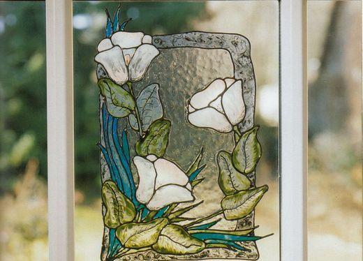 Imitatii de vitralii Tiffany - Motive florale