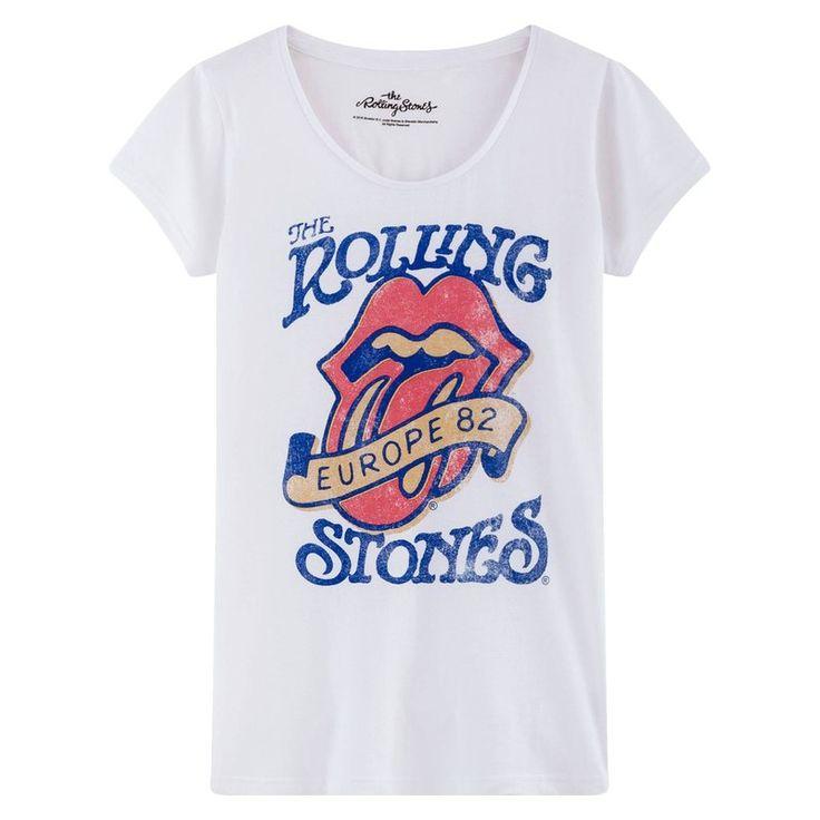 T-shirt manches courtes col rond femme imprimé Rolling Stones Universal 19,49 €