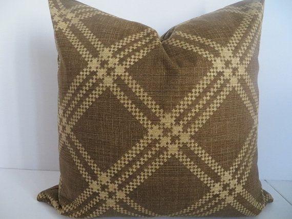 Robert Allen  18x18 Decorative Pillow Covers Brown Pillow